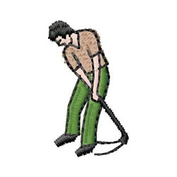 Golf embroidery design