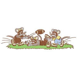 Football Mice embroidery design