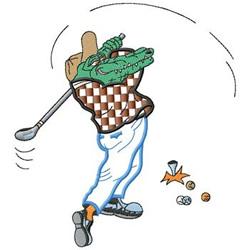 Alligator Golf embroidery design