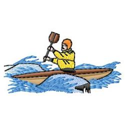 Kayaking embroidery design