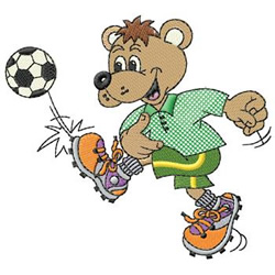 Soccer Bear embroidery design