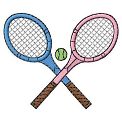 Tennis Racquets embroidery design