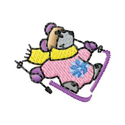 Skier Mouse embroidery design