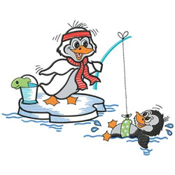 Ice Fishing embroidery design