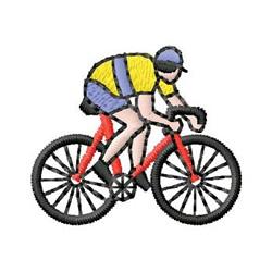 Biking embroidery design