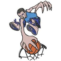 Basketball Dunk embroidery design