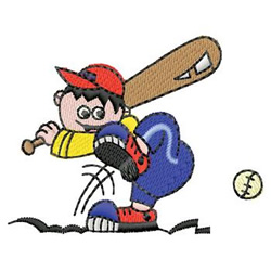 Baseball Batter embroidery design