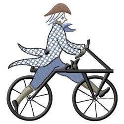 Vintage Biking embroidery design