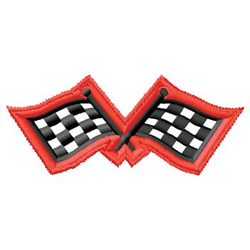 Race Flags embroidery design