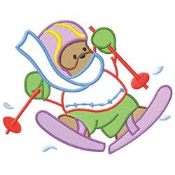 Ski Bear embroidery design