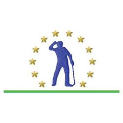 Golf Emblem embroidery design