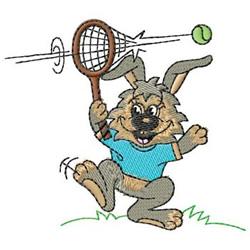 Tennis Rabbit embroidery design