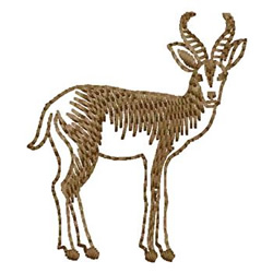 Springbok embroidery design