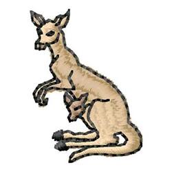Kangaroo and Joey embroidery design