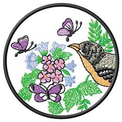 Garden Wildlife embroidery design