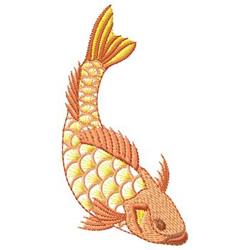 Koi Fish embroidery design
