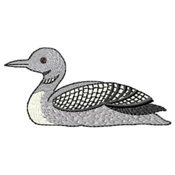 Loon embroidery design