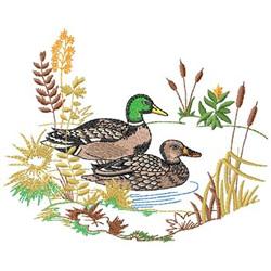 Mallard Scene embroidery design