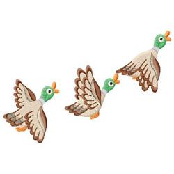 Duck Trio embroidery design