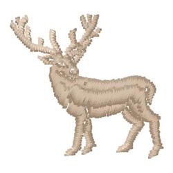 Deer embroidery design