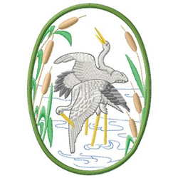 Herons embroidery design