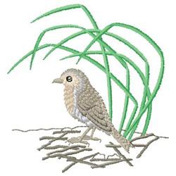 Nesting Bird embroidery design