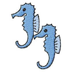 Seahorses embroidery design