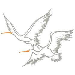 Egrets embroidery design