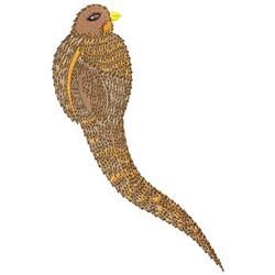 Golden Bird embroidery design