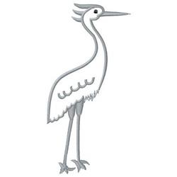 Egret embroidery design