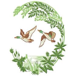 Ducks In Flight embroidery design