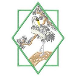 Crane embroidery design
