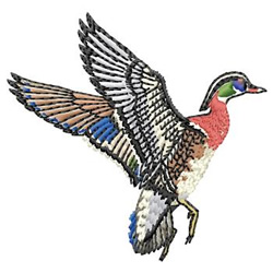 Wood Duck embroidery design