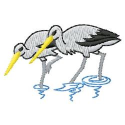 Cranes embroidery design