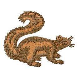 Squirrel embroidery design