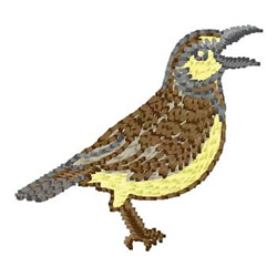 Songbird embroidery design