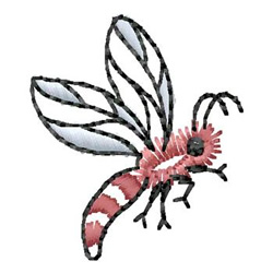 Hornet embroidery design