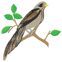 Bird in a Tree embroidery design