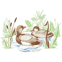 Duck Pond embroidery design