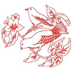 Redwork Birds embroidery design