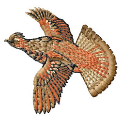 Grouse embroidery design
