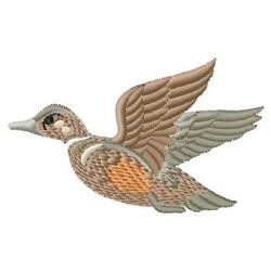 Duck In Flight embroidery design
