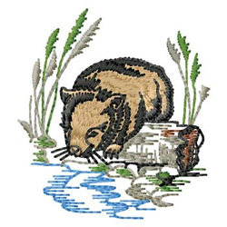 Wombat embroidery design