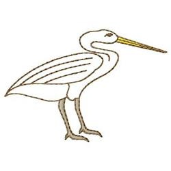 Seabird embroidery design