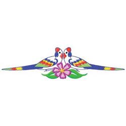 Tropical Bird Border embroidery design