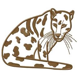Leopard embroidery design
