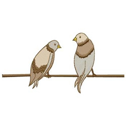 Two Birds embroidery design