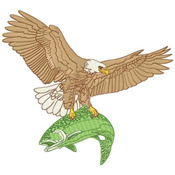 Eagle With Fish embroidery design