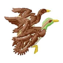 Ducks embroidery design