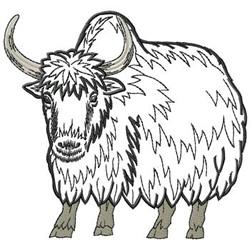 Yak embroidery design